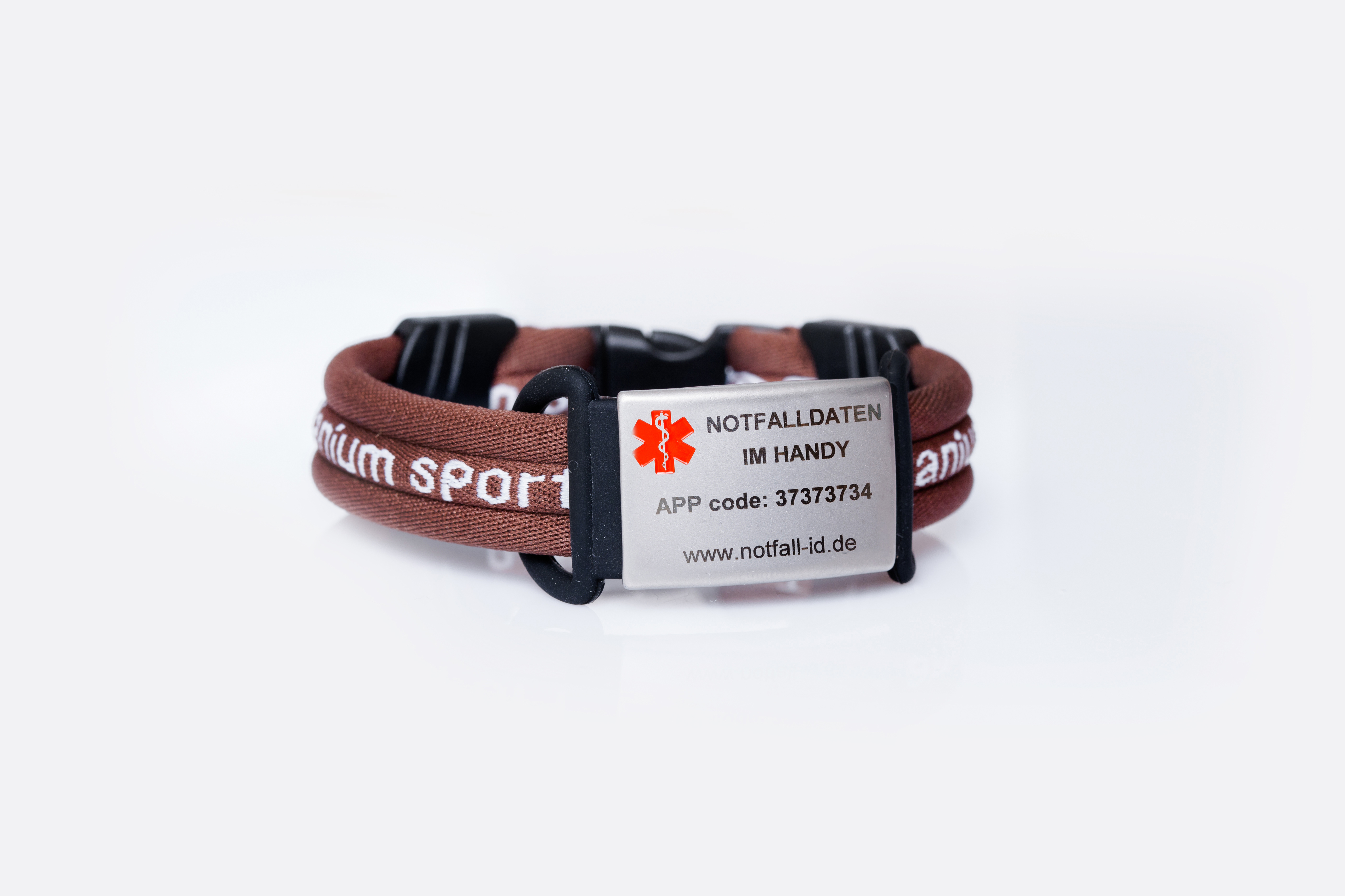 Medical id adult sport bracelet brown