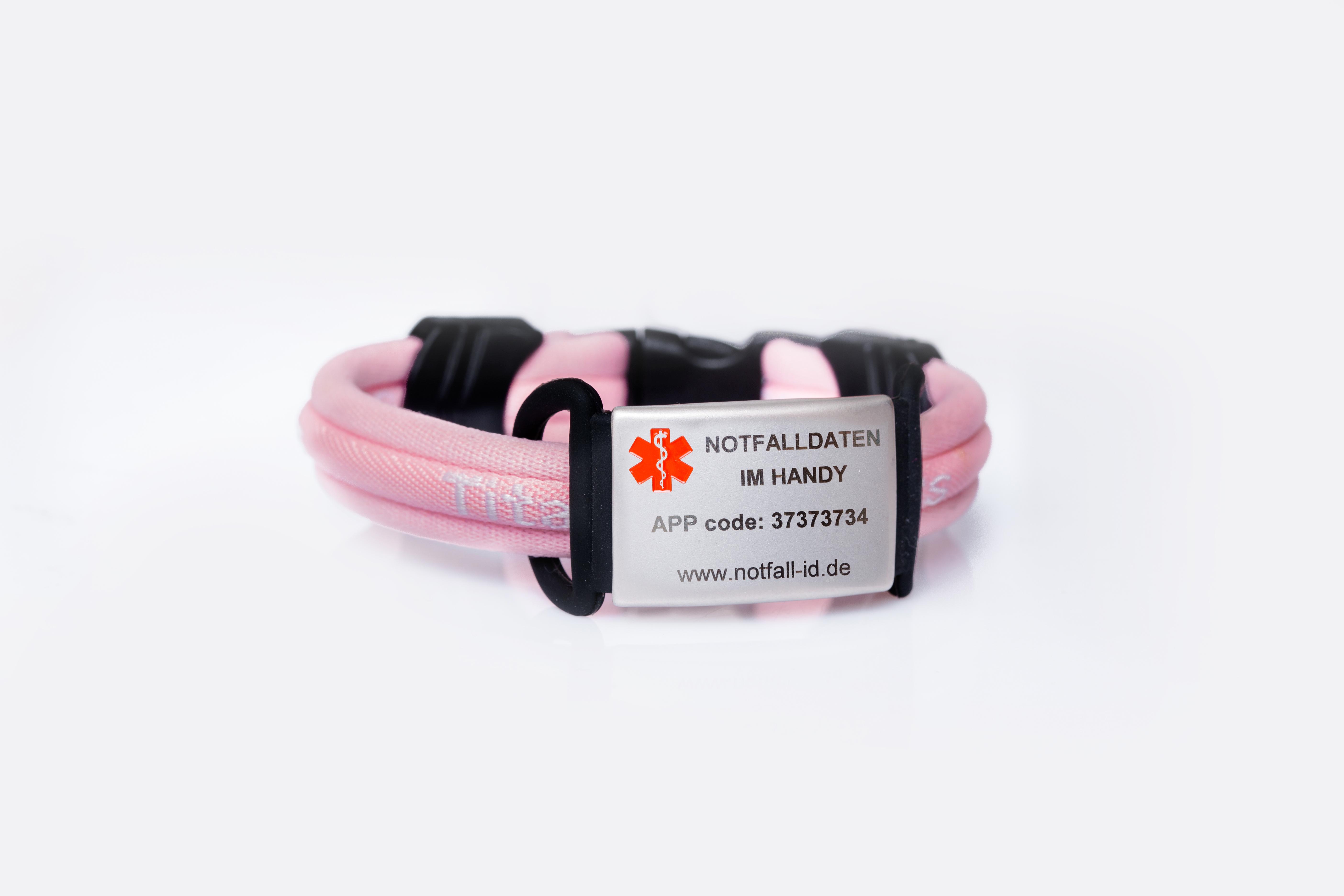 Medical id bracelet sport pink
