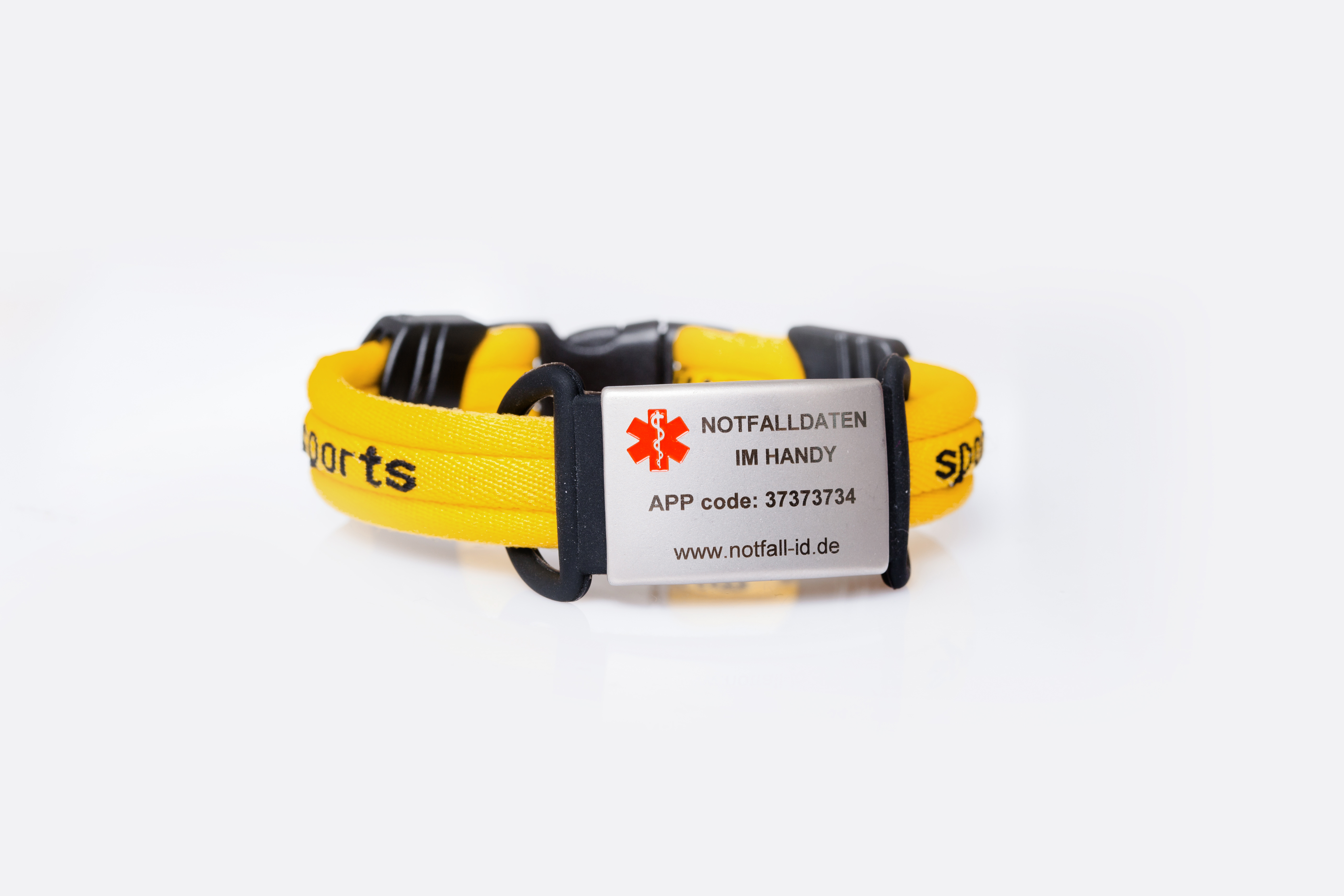Medical id adult sport bracelet yellow
