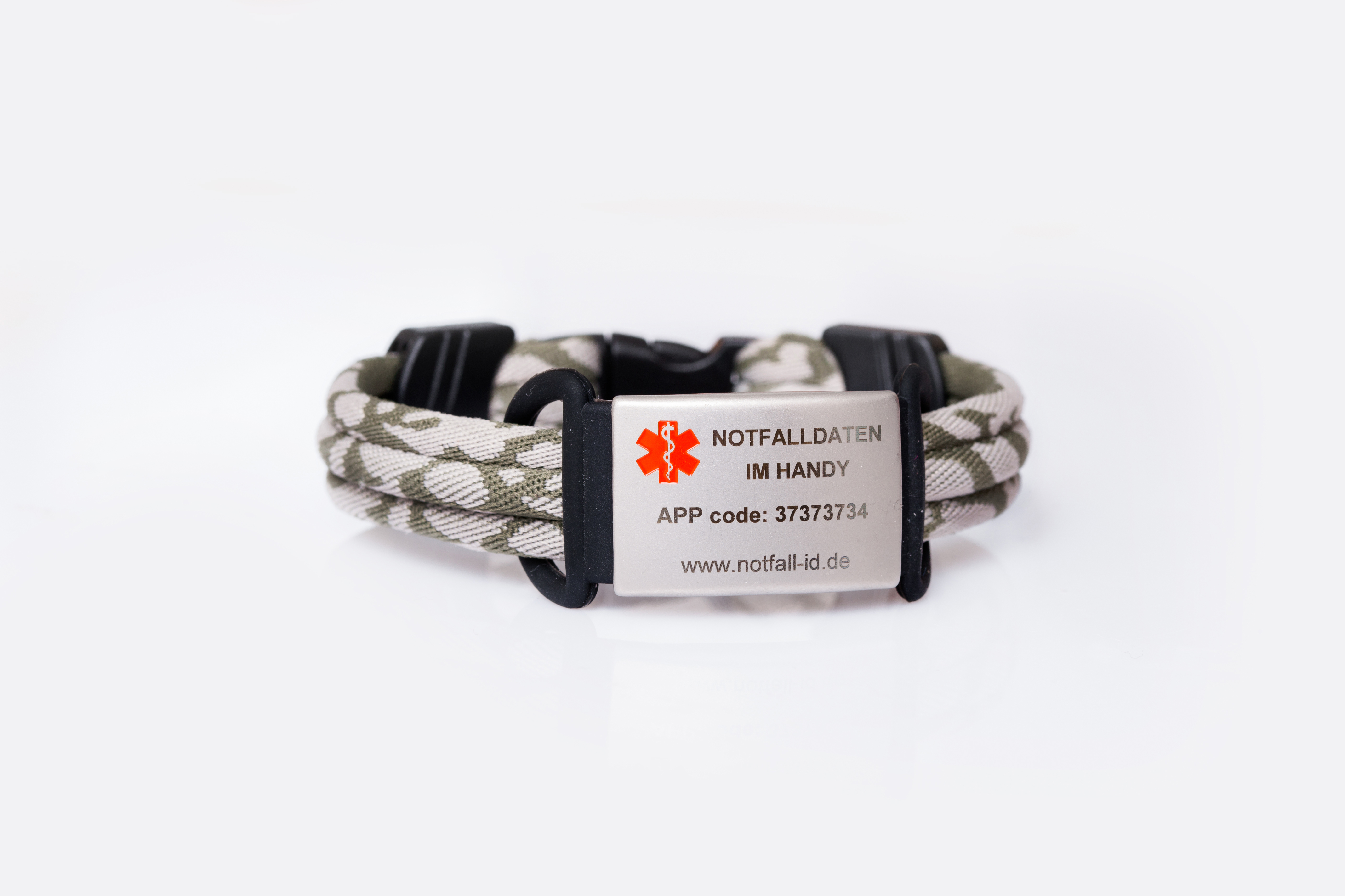Medical id adult sport bracelet camoflage