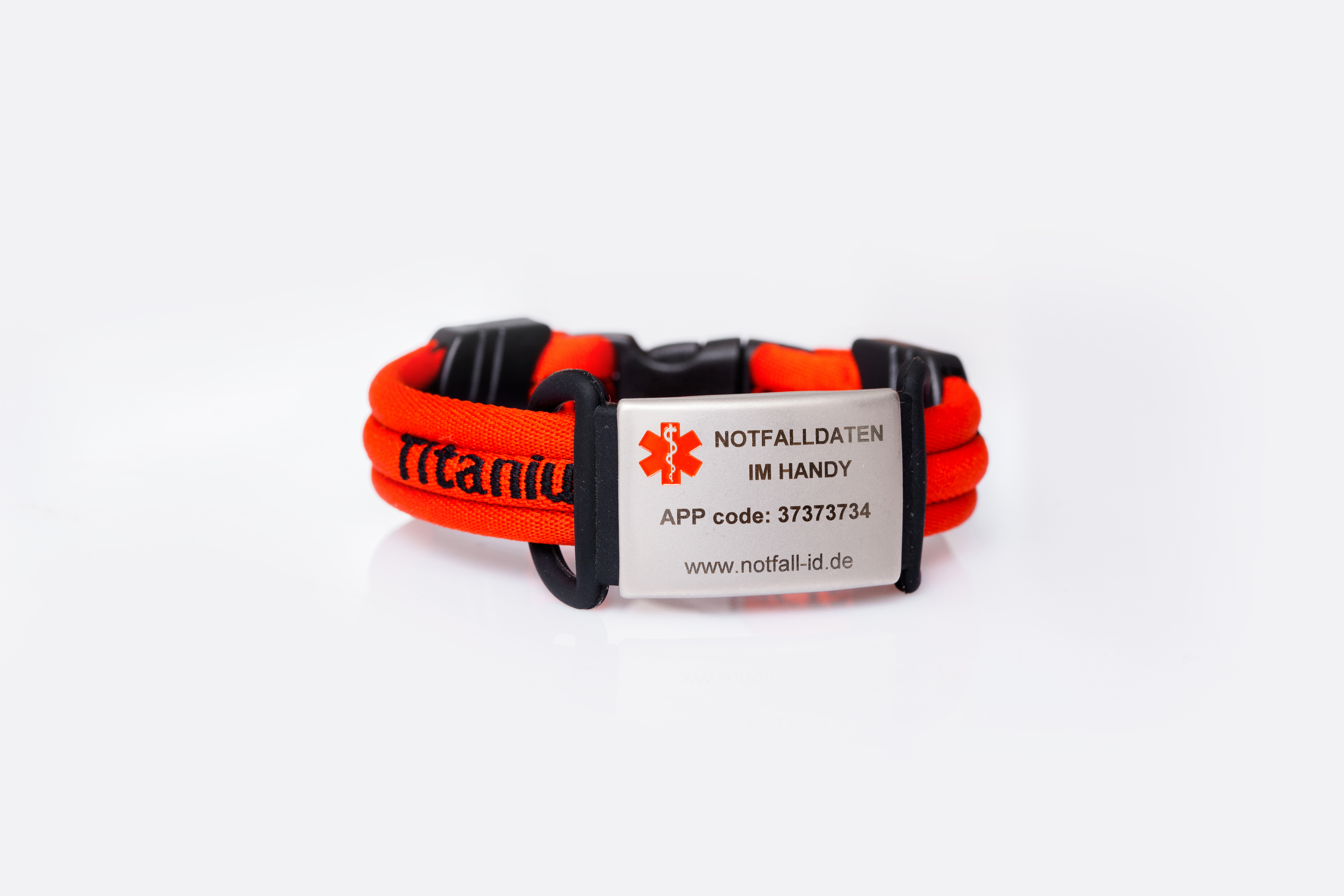 Medical id adult sport bracelet red