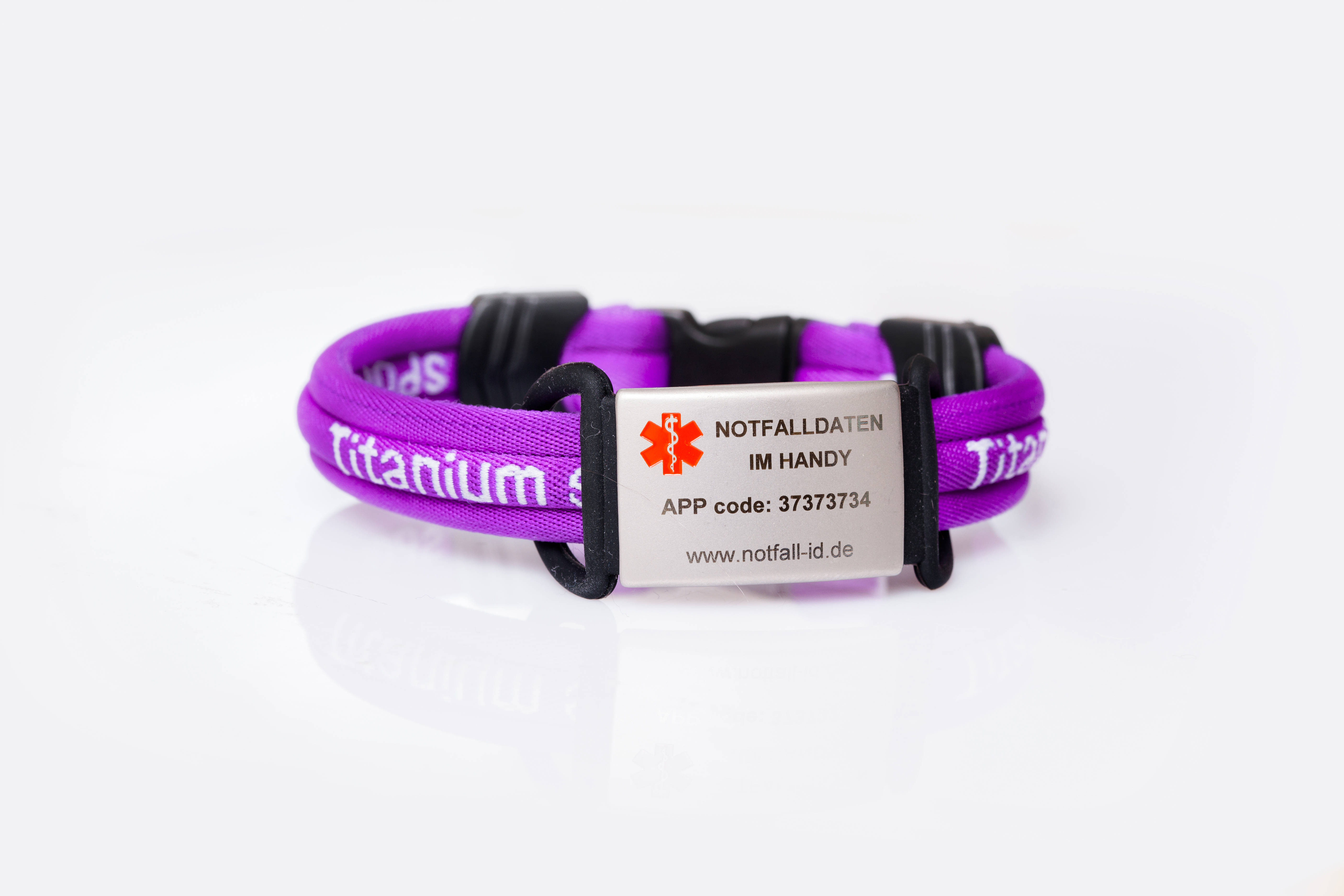 Medical id adult sport bracelet purple