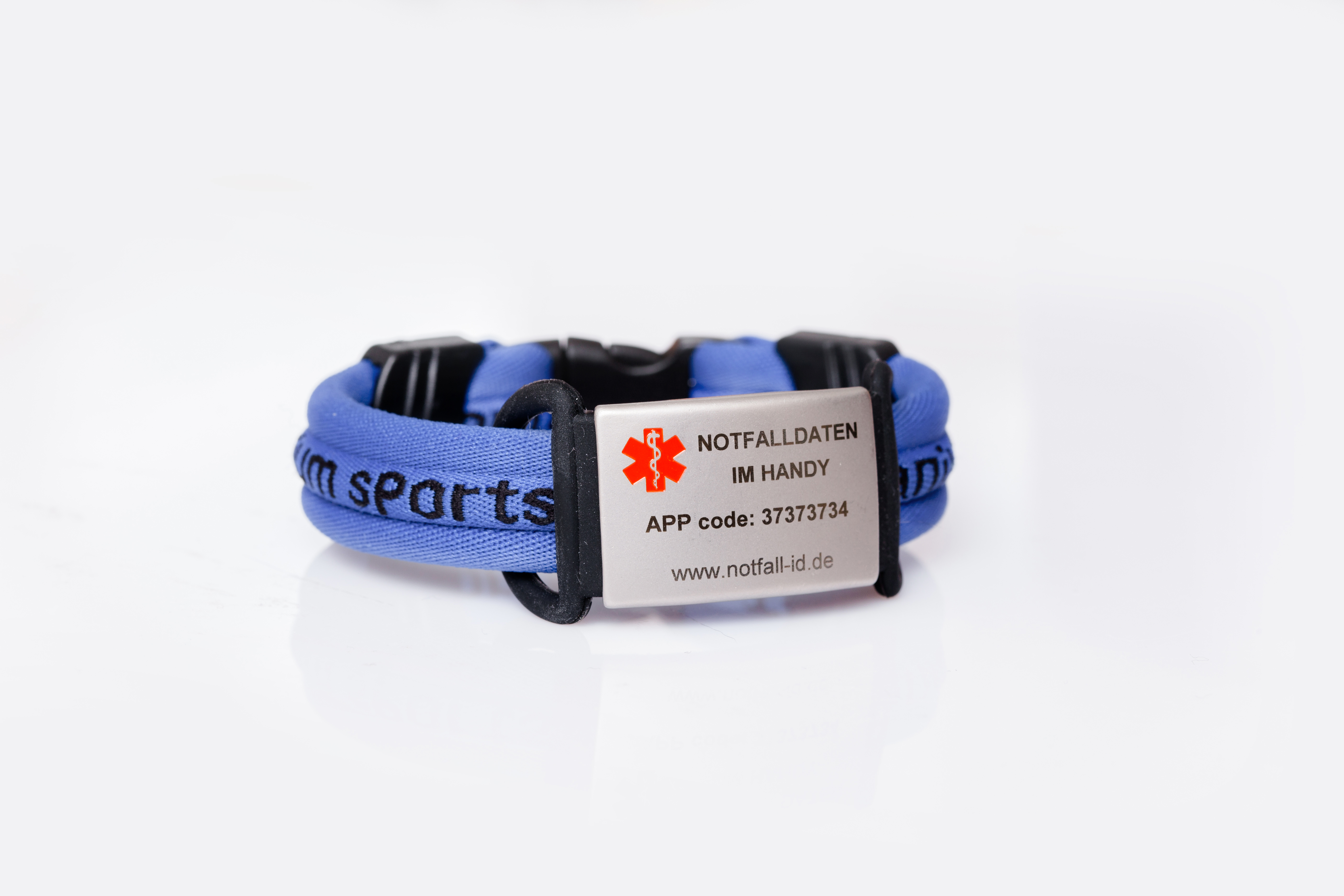 medical id adult sport bracelet light blue